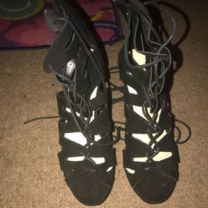 Shoes - Laced up Wedges